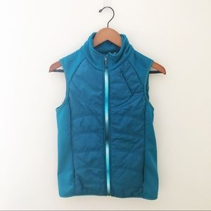 Athleta Teal Green Quilted Vest